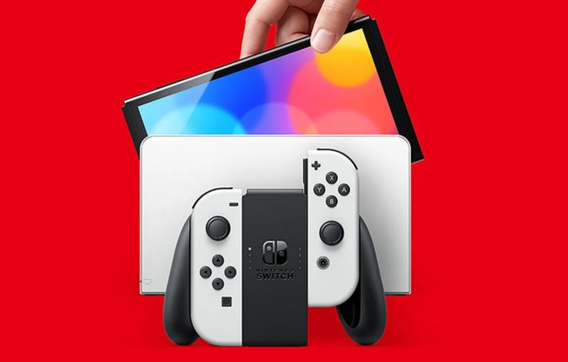 The Nintendo Switch OLED model. <br>Image source: Nintendo