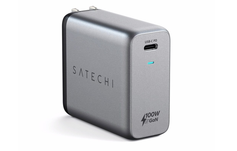 The Satechi 100W USB-C PD GaN wall charger. <br>Image source: Satechi