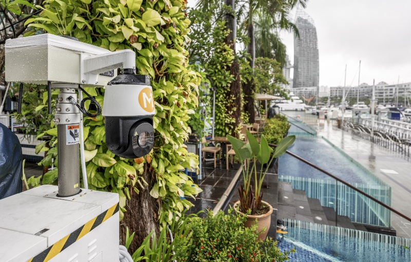 This 5G enabled camera can keep an eye out for unauthorised access. Image courtesy of M1.