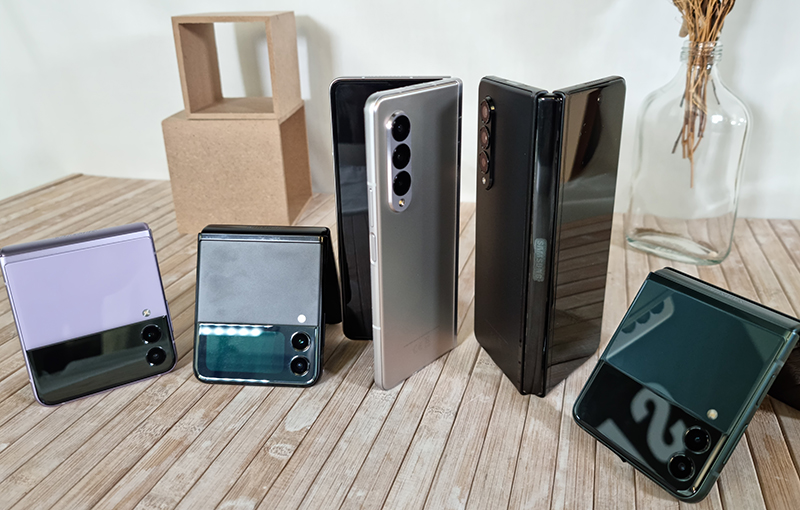 The Samsung Galaxy Z Fold3 and Z Flip3 5G.