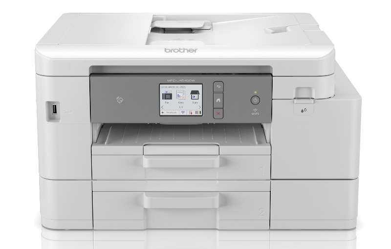 The MFC-4540DW has two paper trays taking up to 400 sheets of paper. Image courtesy of Brother.