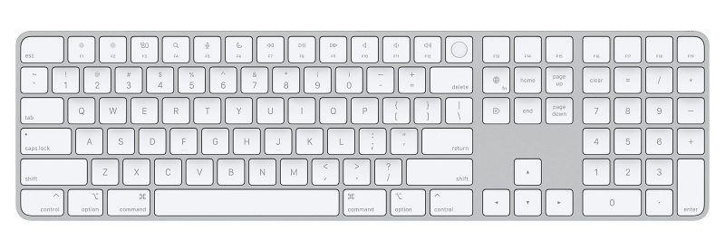 Magic Keyboard with Touch ID and Numeric Keypad. <br>Image source: Apple