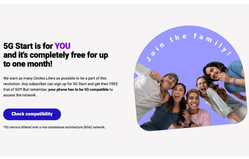 Circles.Life says their existing subscribers don't need a new SIM or eSIM to access the 5G services.