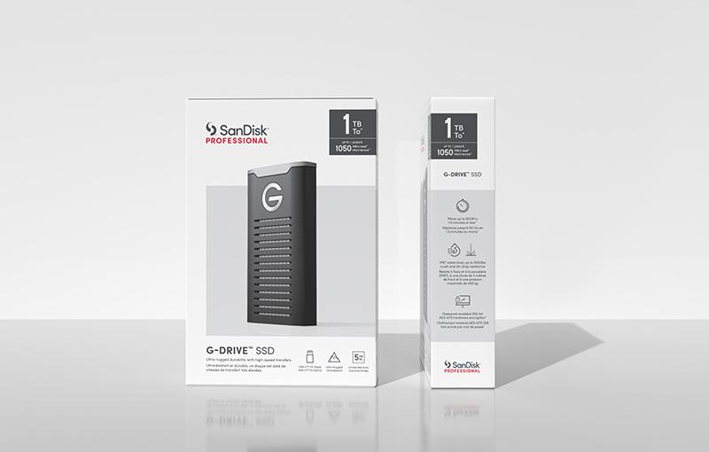 G-Drive SSDs under SanDisk Professional brand.