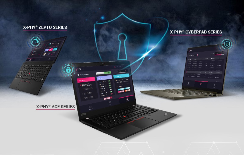The three different series of laptops will be launched in September. Image courtesy of Flexxon.