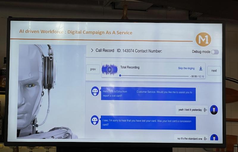 M1 showcased a human sounding chatbot