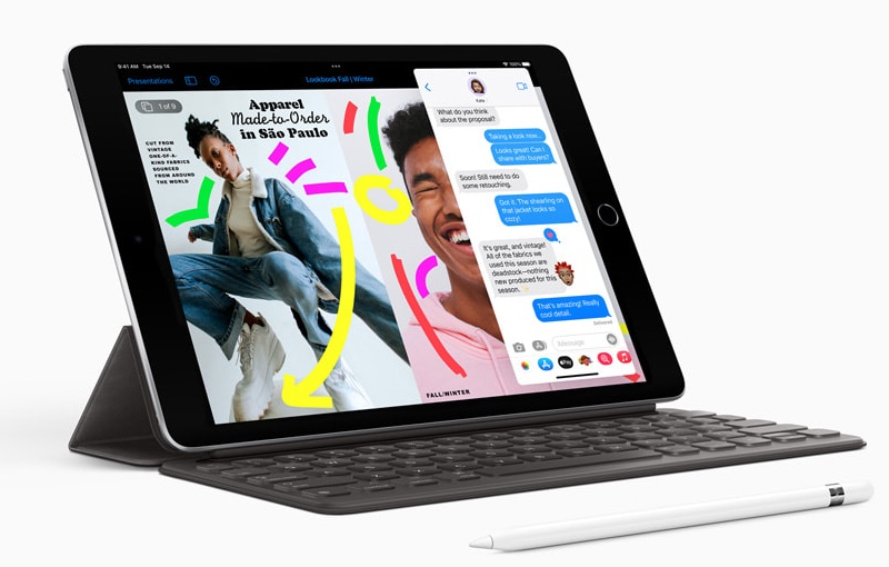 Welcome to the 9th Generation iPad. Image source: Apple.