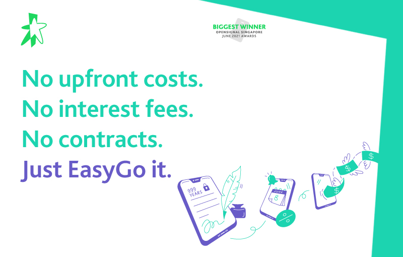 Customers only add on a small instalment payment on top of their SIM only monthly costs. Image source: StarHub.