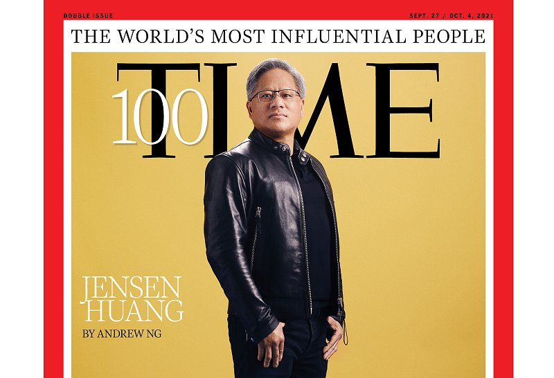 NVIDIA founder and CEO Jensen Huang made it to the 2021 TIME100 list and on the cover, no less.