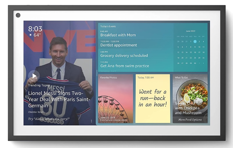 The Echo Show 15 can be mounted in landscape or portrait orientation. Image source: Amazon.