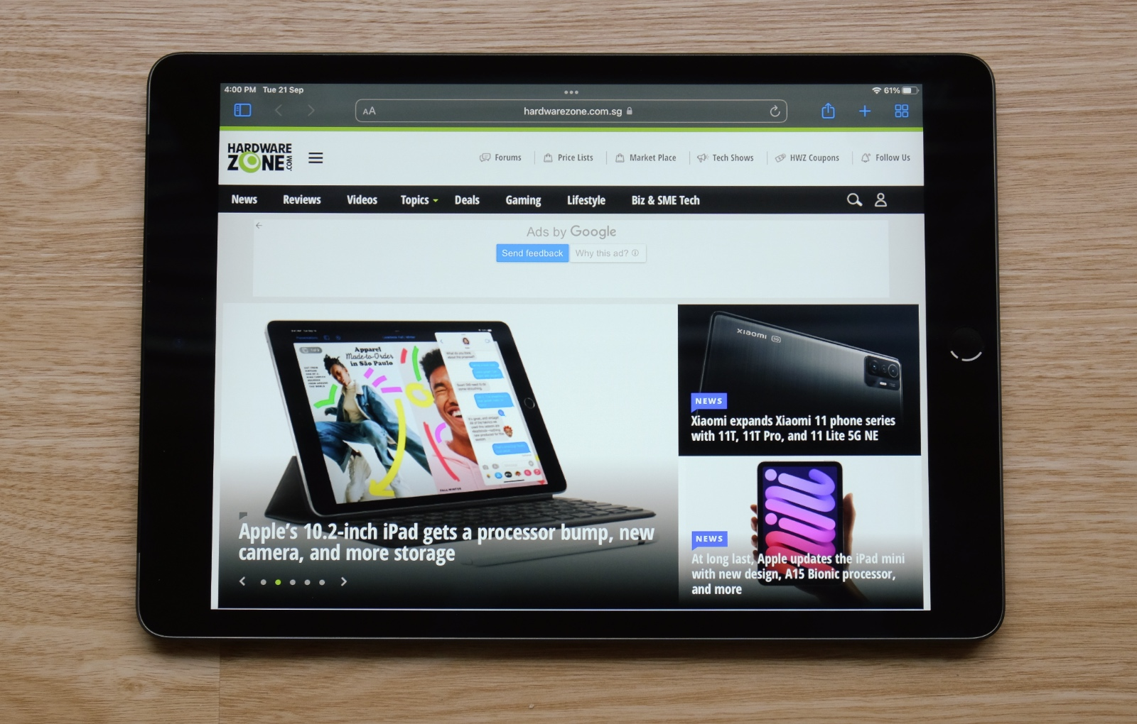 The new iPad is almost physically indistinguishable from last year's version.