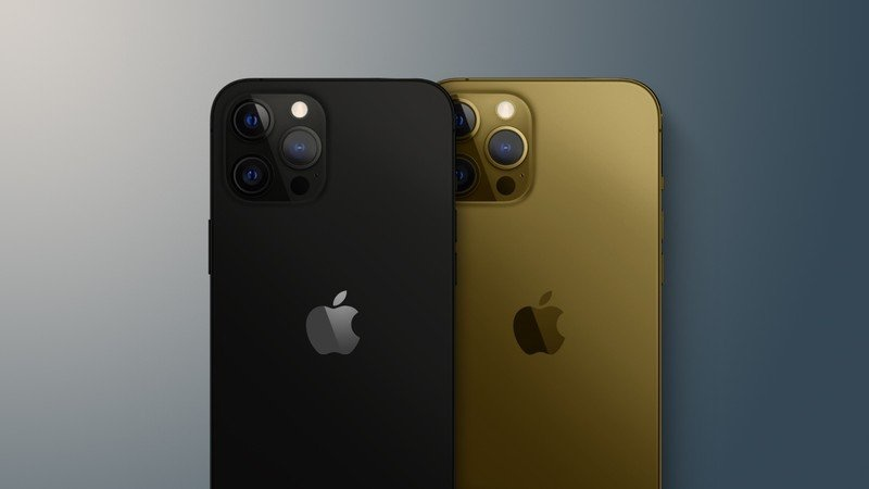 Render of the black and bronze Apple iPhone 13 Pro. <br>Image source: MacRumours