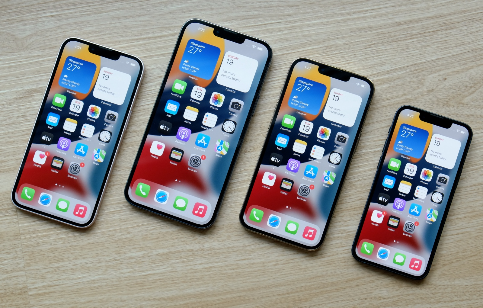 The Apple iPhone 13 lineup.