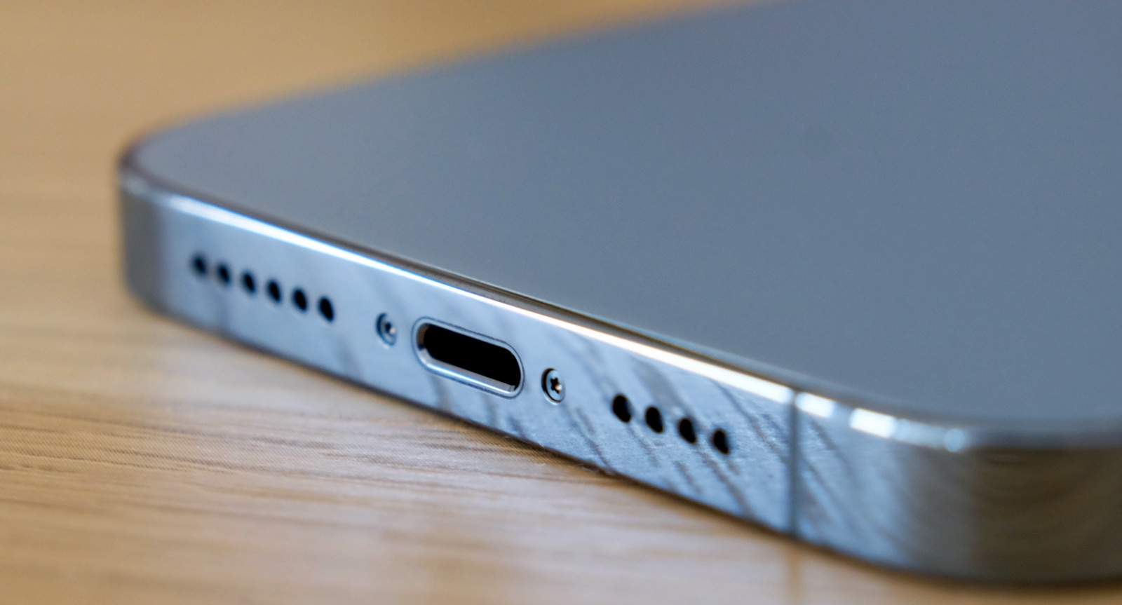 Sorry, no USB-C. You still get Lightning ports on these new iPhones.