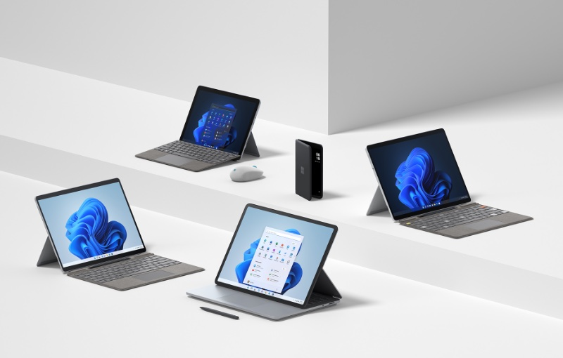 The products unveiled at Microsoft's Surface event. Image source: Microsoft