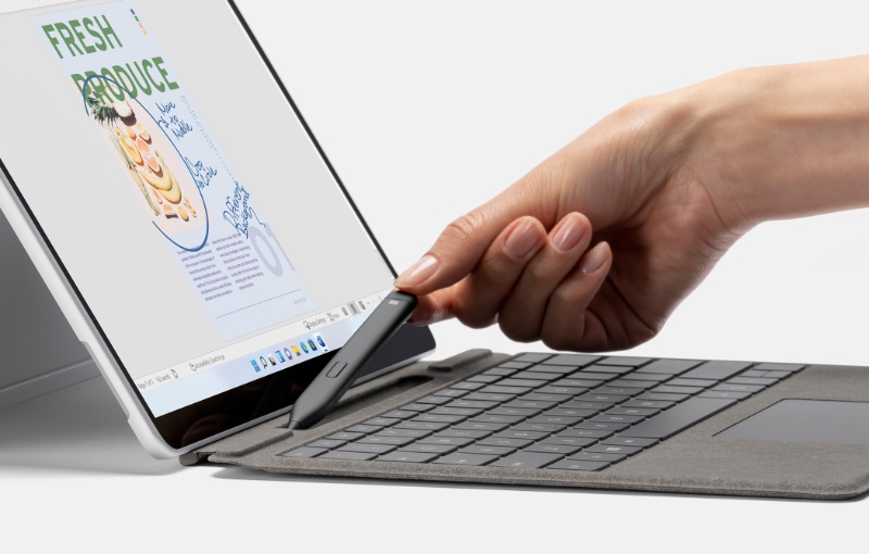 The pen now has its own slot in the keyboard for charging. Image source: Microsoft