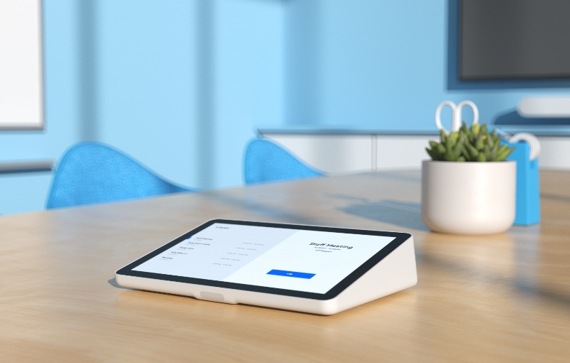 The Logitech Tap IP is the new way to run a video conference in a small room. Image source: Logitech.