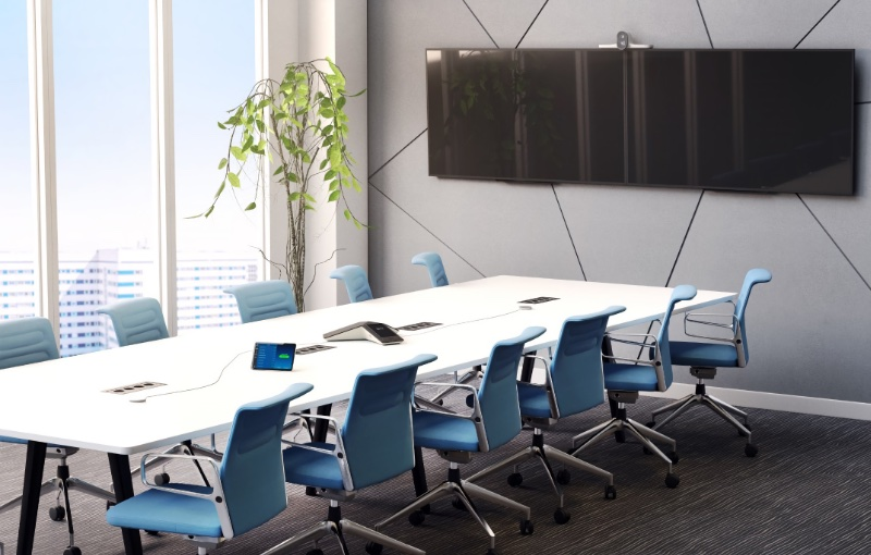 The Studio E70 is designed for use in larger conferences. Image source: Poly.