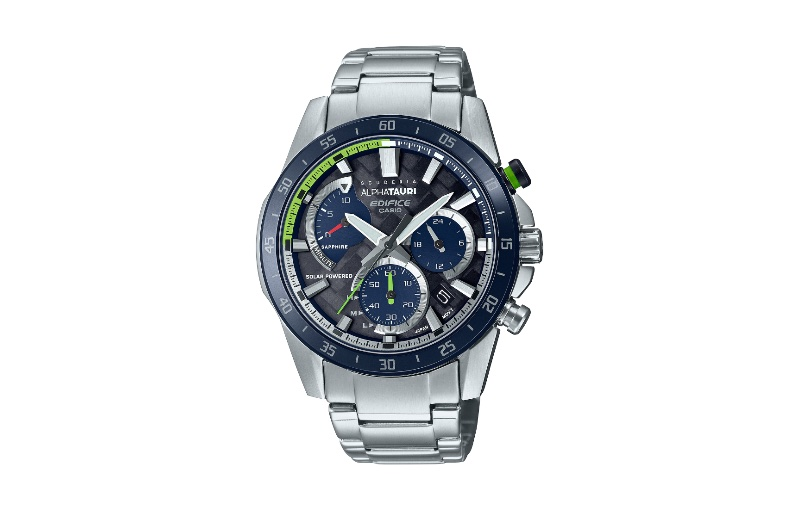 While also solar-powered, the EFS-S580AT can go for 5 months on a full charge. Image source: Casio.