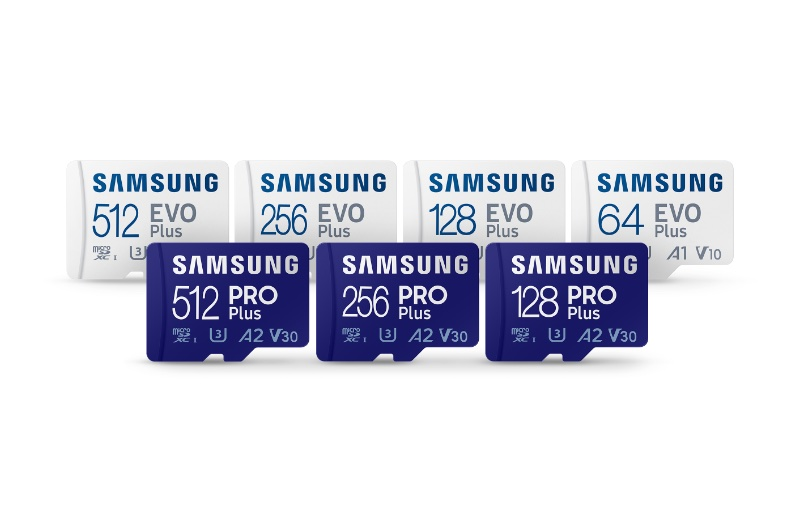 The new microSD cards will suit the needs of most users. Image source: Samsung.