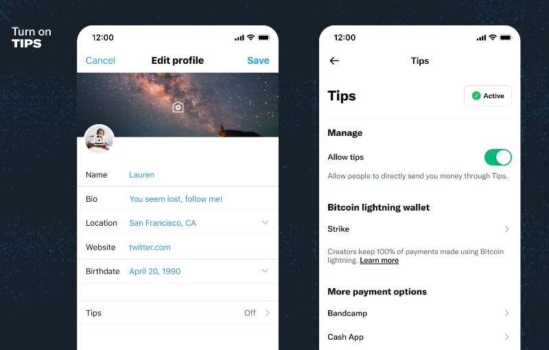 The first few steps to run on Tips. Image source: Twitter