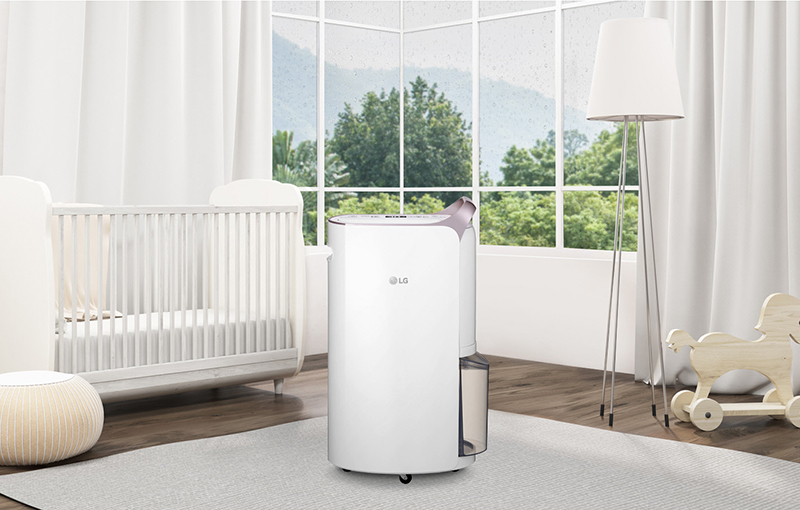 LG Dual Inverter Dehumidifier with Ionizer (MD19GQGA1).