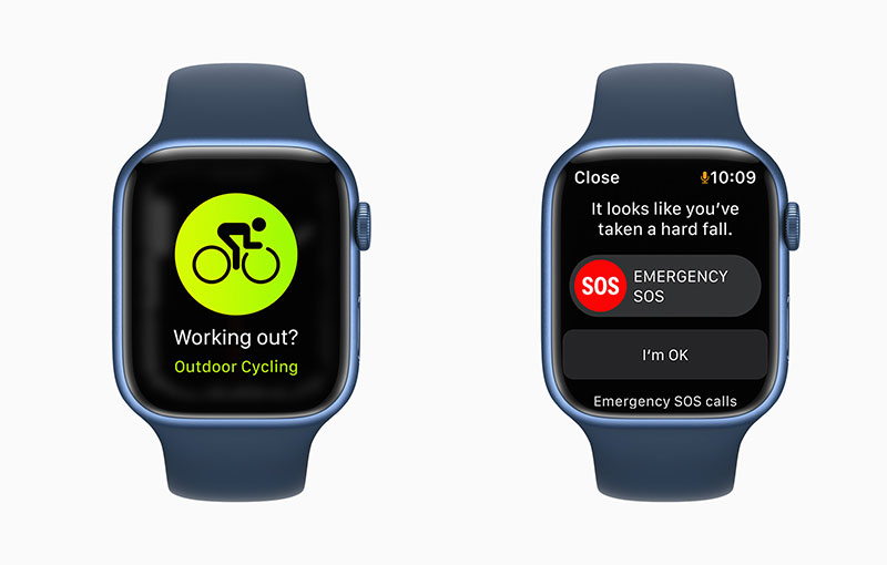 watchOS 8 has a more robust Outdoor Cycling workout mode. (Image source: Apple)