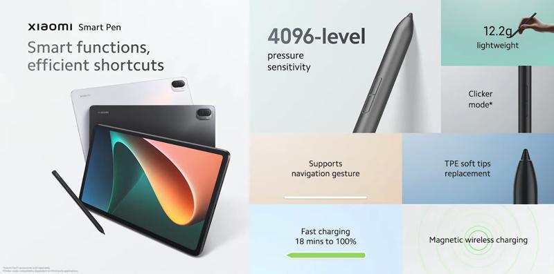 Xiaomi Smart Pen (sold separately).