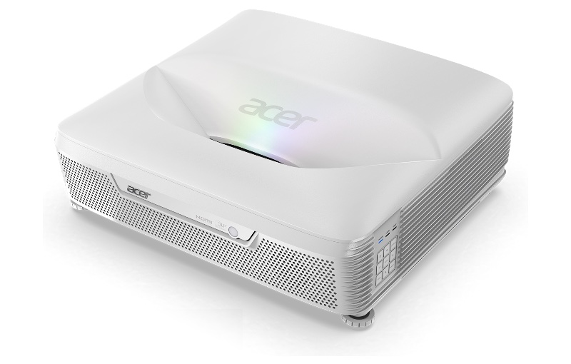 The Acer L811 Laser Projector supports 3D content at 144 Hz 24P via 3D Blu-ray. Image source: Acer.