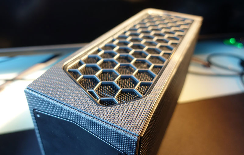 The Beast Canyon's fully-meshed casing helps with air flow and heat dissipation.