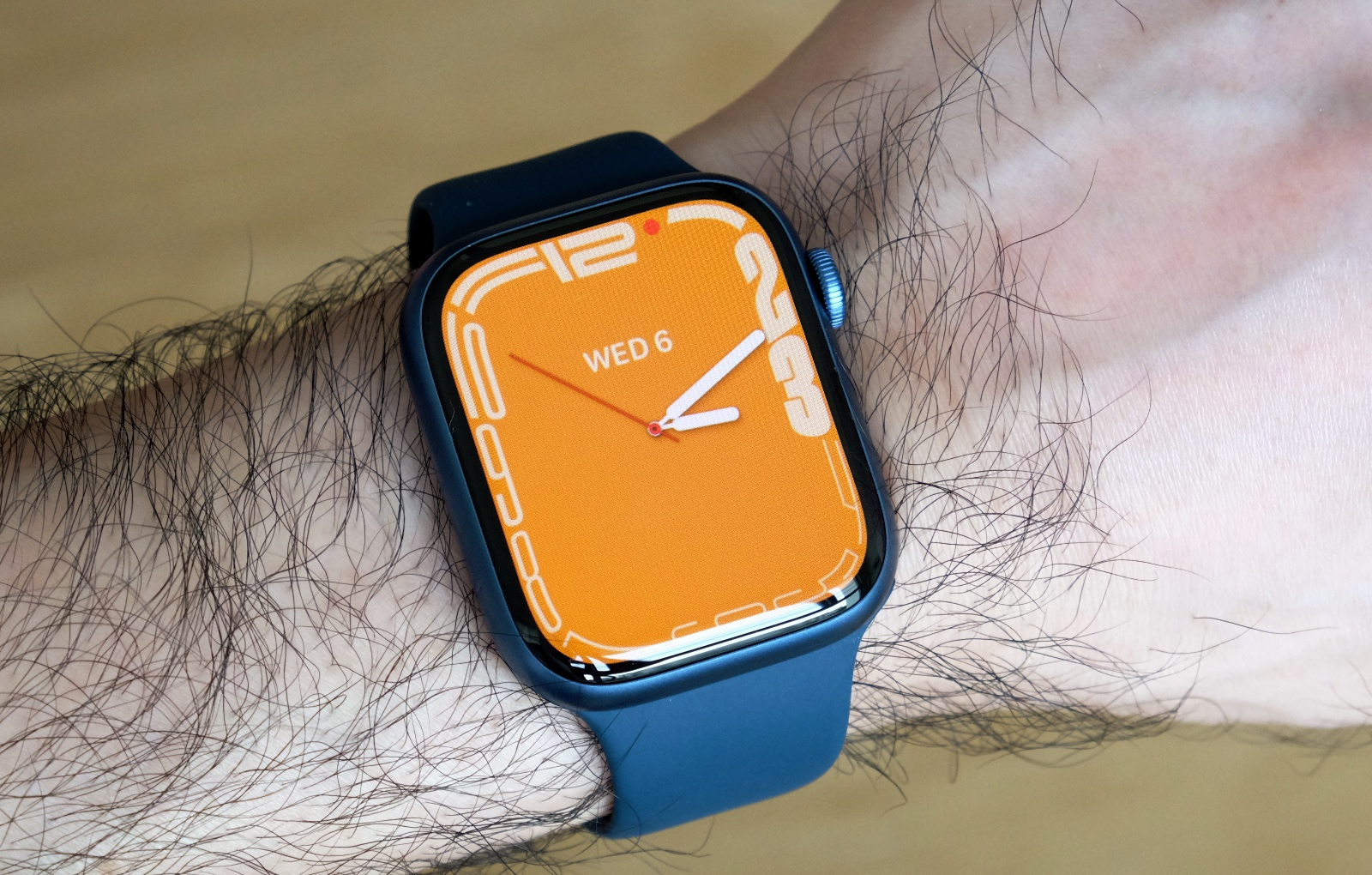 Despite the slightly larger cases, the Series 7 watches fit just as comfortably.