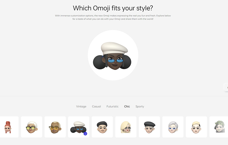 Omoji, a new ColorOS 12 feature by Oppo.