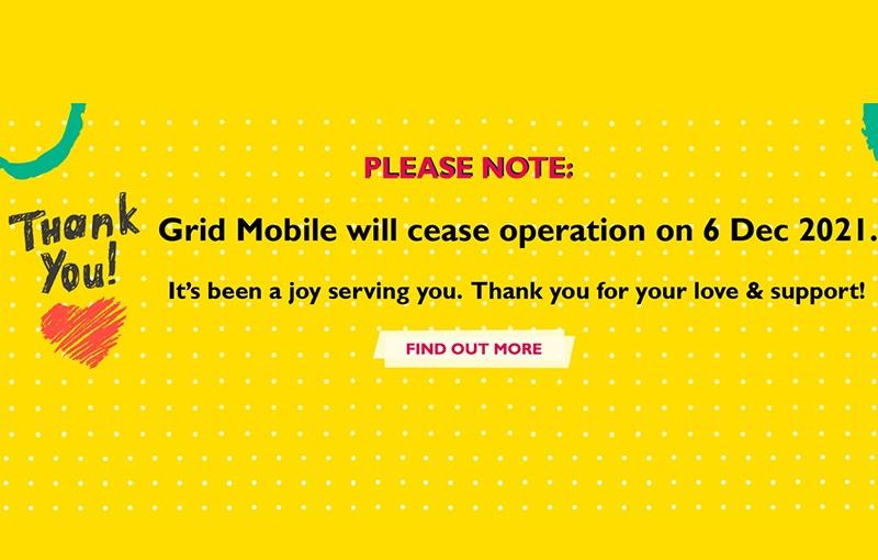 Grid Mobile cessation.