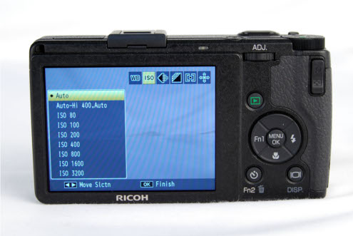 The Digital IV makes it easy to access certain frequently-used options such as white balance or ISO setting without needing to navigate through the respective sub-menus.