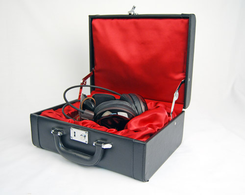 The flagship Audio Technica ATH-W3000ANV headphones came packaged to us in a fancy hard case box. In actual retail, this hard case box is actually an optional purchase.