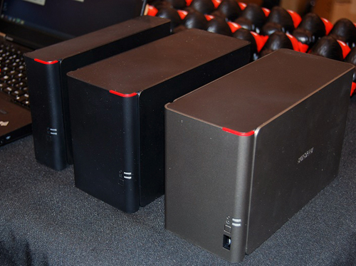 The new LinkStation 400 NAS devices.