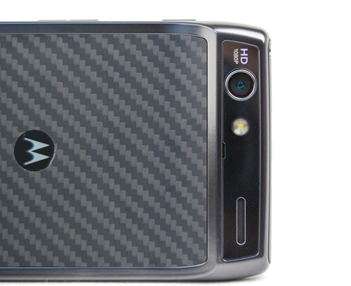 The Motorola RAZR is equipped with a 8-megapixel camera with LED flash and autofocus capabilities.