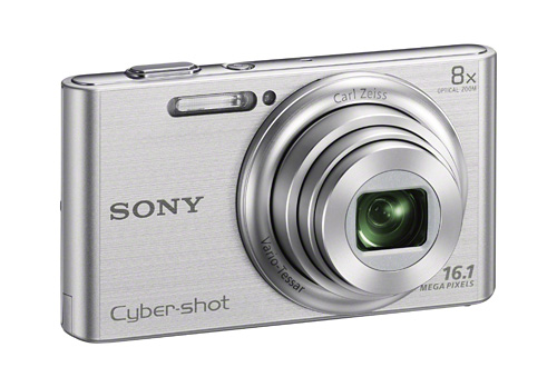 Cyber-shot W730 – 16.1 effective megapixels Super HAD CCD sensor, 8x optical zoom Carl Zeiss Vario-Tessar lens, Optical SteadyShot, HD video, Intelligent Auto, Beauty Effect, Advanced Flash.