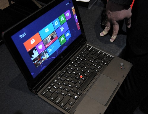 "The Lenovo Thinkpad Helix is the first hybrid PC designed specifically for enterprise-use and is touted to be the ""thinnest full-function Intel 3rd generation Core tablet with vPro."""