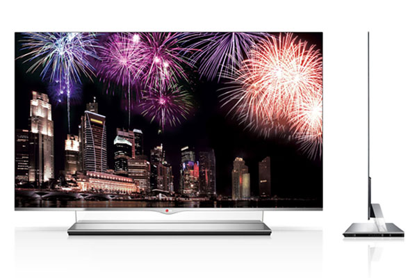 LG's 55-inch OLED TV has a price tag of US$12,000. (Image source: LG.)