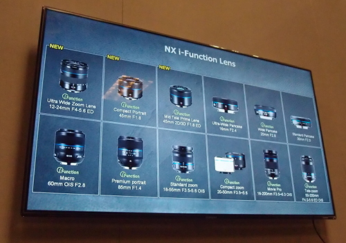 Other than this special lens, the NX300 is also compatible with Samsung's entire range of NX lenses and professional standard accessories.