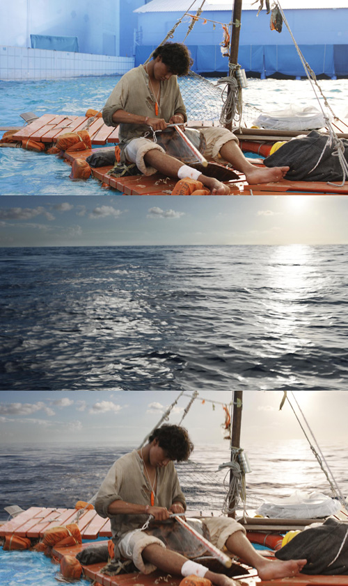 An example of how Rampage was used to map the skies in Life of Pi