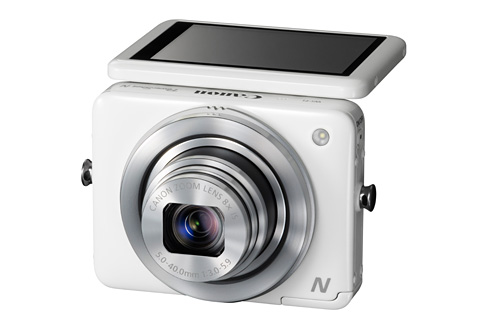 Canon's pocket-sized PowerShot N is built around a tilting touch-screen and comes with built-in Wi-Fi.