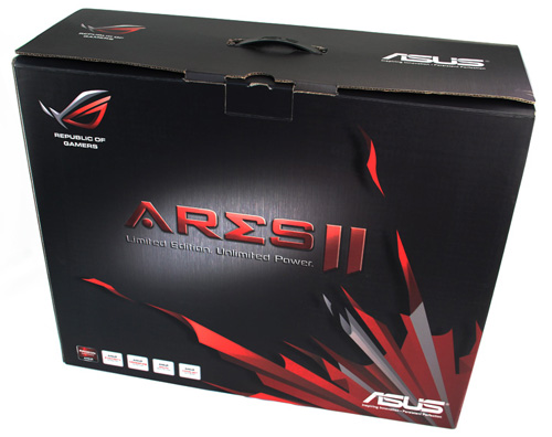 The packaging for the ROG ARES II is huge!