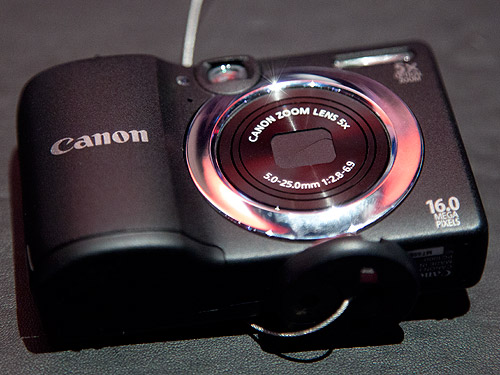 The PowerShot A1400 with a 5x optical zoom lens and 16-megapixel sensor