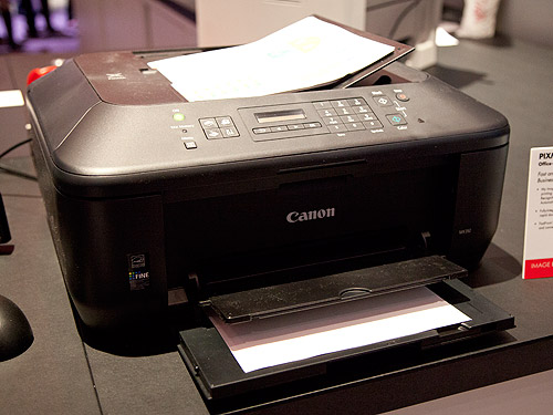 The PIXMA MX392 is the most affordable of the newly introduced models which doesn't feature any wireless connectivity. It features Canon's renowned hybrid ink system to produce high-quality, vivid photos and documents and it also comes with a 30-sheet Automatic Document Feeder.