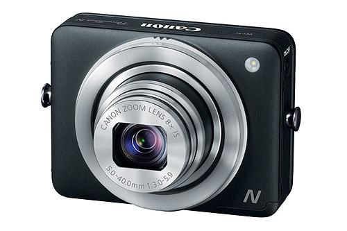 The Canon PowerShot N - in black.
