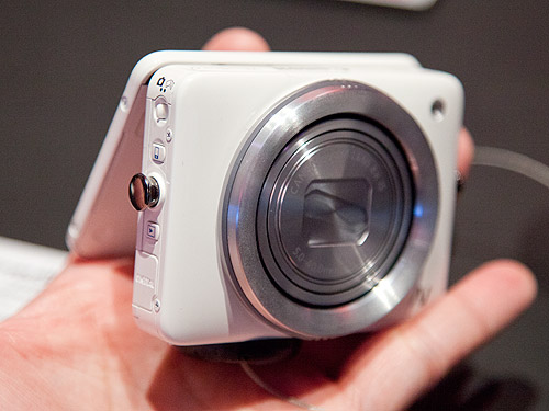 The new Canon PowerShot N is small enough to fit into the palm of your hand.