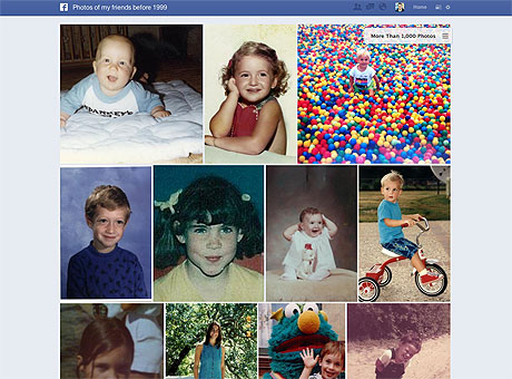 "To find embarrassing childhood photos of your friends, try searcingh for ""Photos of my friends before 1999"""