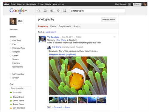 Searching for photography-related stuff in Google+?